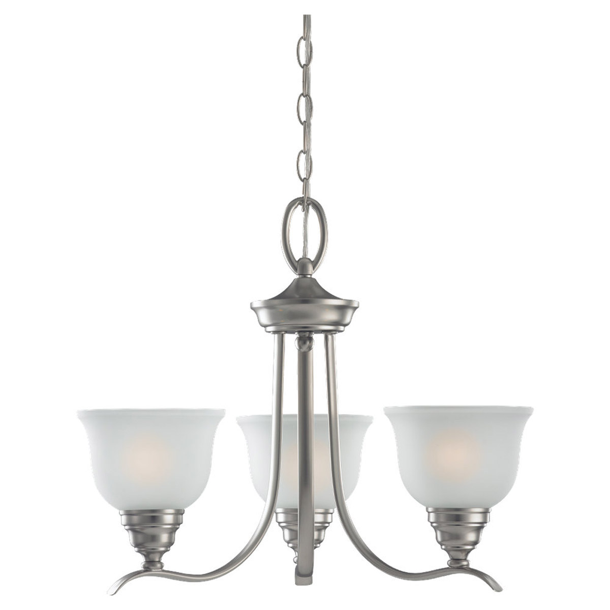 Sea Gull 31625BLE-962 Wheaton 3 Light 22 inch Brushed Nickel Chandelier Ceiling Light in Fluorescent photo