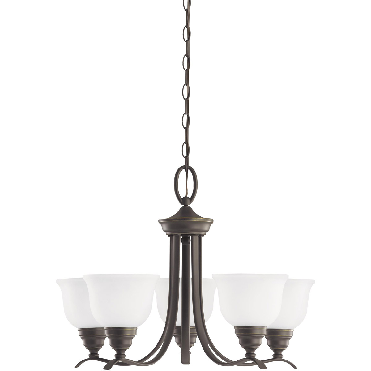 Sea Gull Lighting Wheaton 5 Light Chandelier in Heirloom Bronze 31626-782 photo