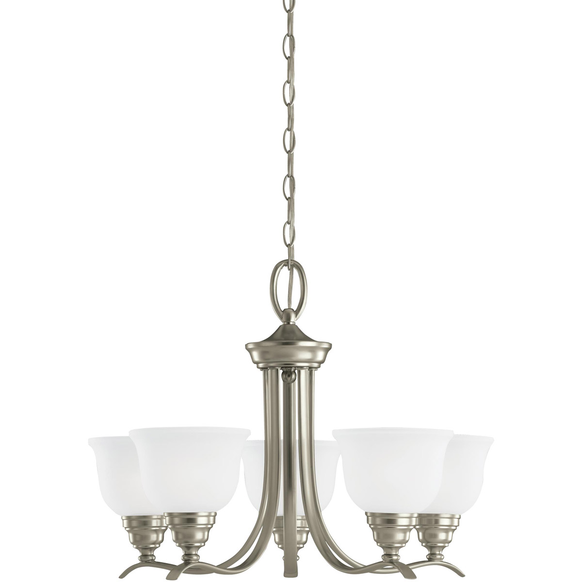 Sea Gull 31626-962 Wheaton 5 Light 24 inch Brushed Nickel Chandelier Ceiling Light in Standard photo