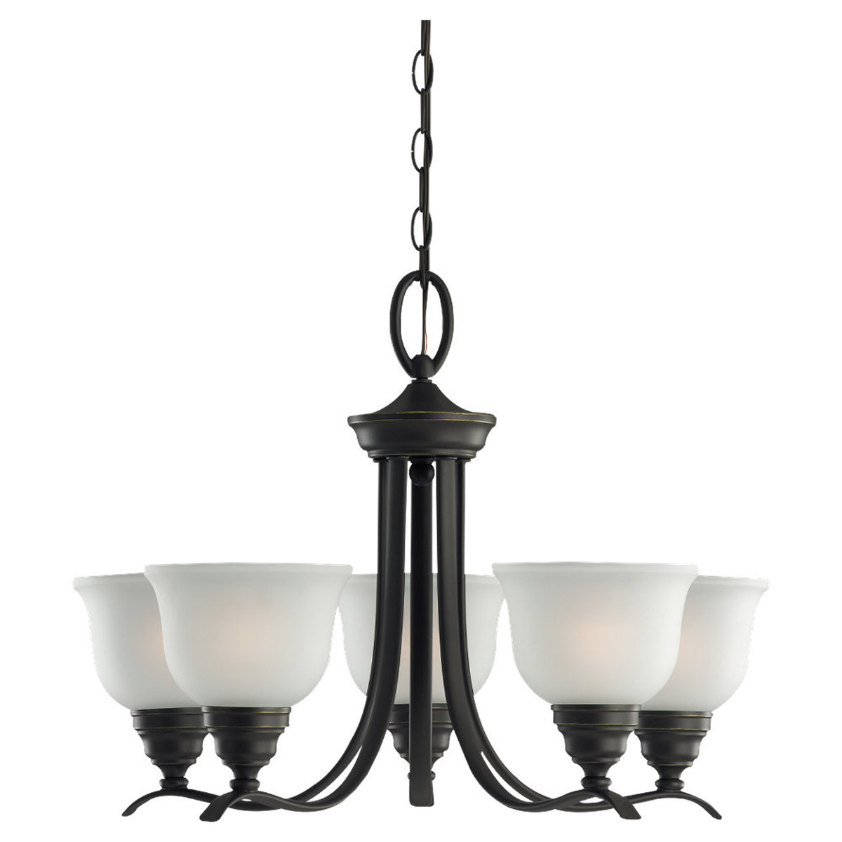 Sea Gull Lighting Wheaton 5 Light Chandelier in Heirloom Bronze 31626BLE-782
