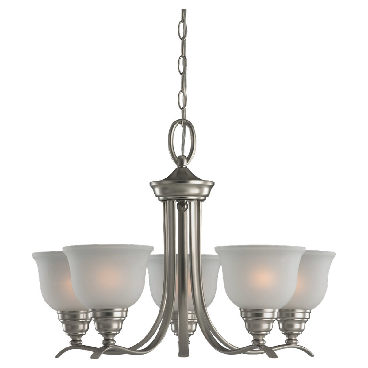 Sea Gull Lighting Wheaton 5 Light Chandelier in Brushed Nickel 31626BLE-962