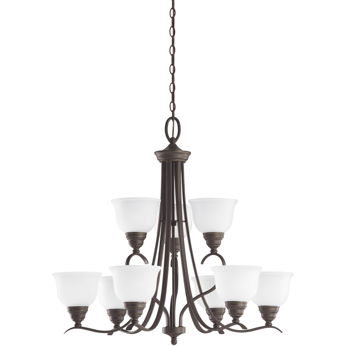 Sea Gull Lighting Wheaton 9 Light Chandelier in Heirloom Bronze 31627-782