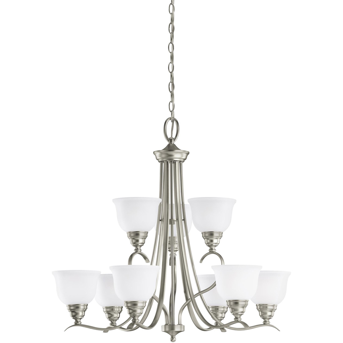 Sea Gull Lighting Wheaton 9 Light Chandelier in Brushed Nickel 31627-962 photo