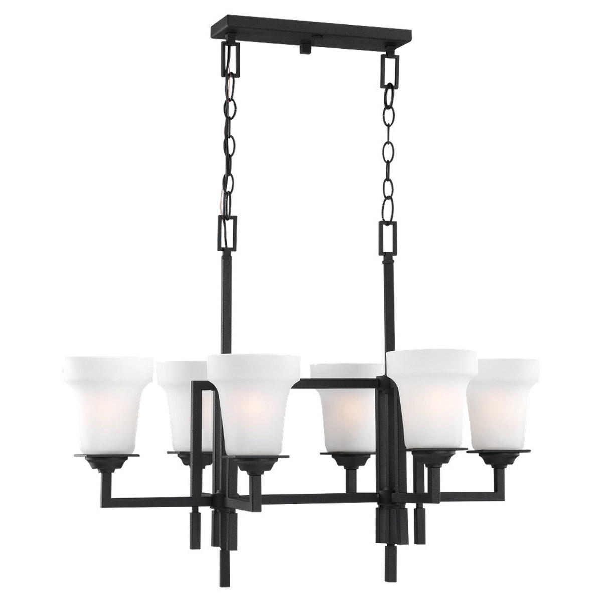 Sea Gull Lighting Cardwell 6 Light Chandelier in Blacksmith 31632-839
