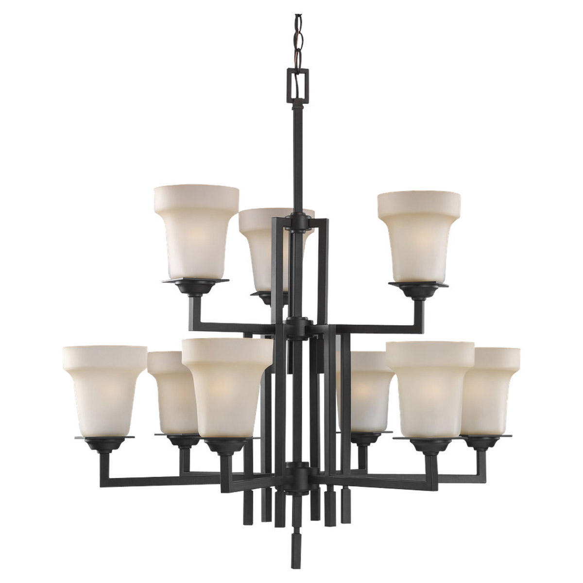 Sea Gull Lighting Cardwell 9 Light Chandelier in Misted Bronze 31633-814 photo