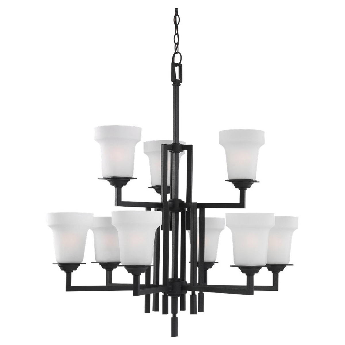 Sea Gull Lighting Cardwell 9 Light Chandelier in Blacksmith 31633-839