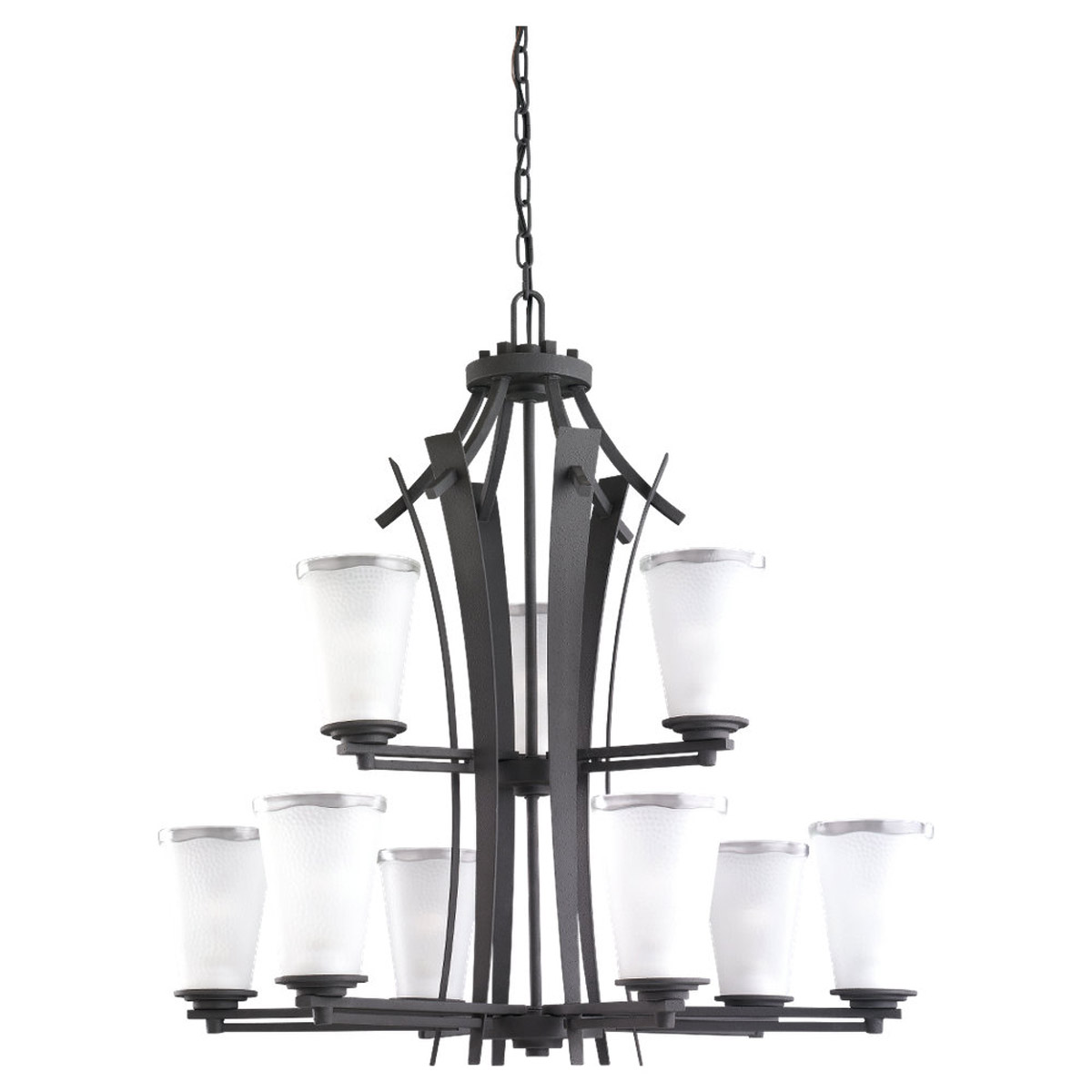 Sea Gull Lighting 59th Street 9 Light Chandelier in Blacksmith 31642-839 photo