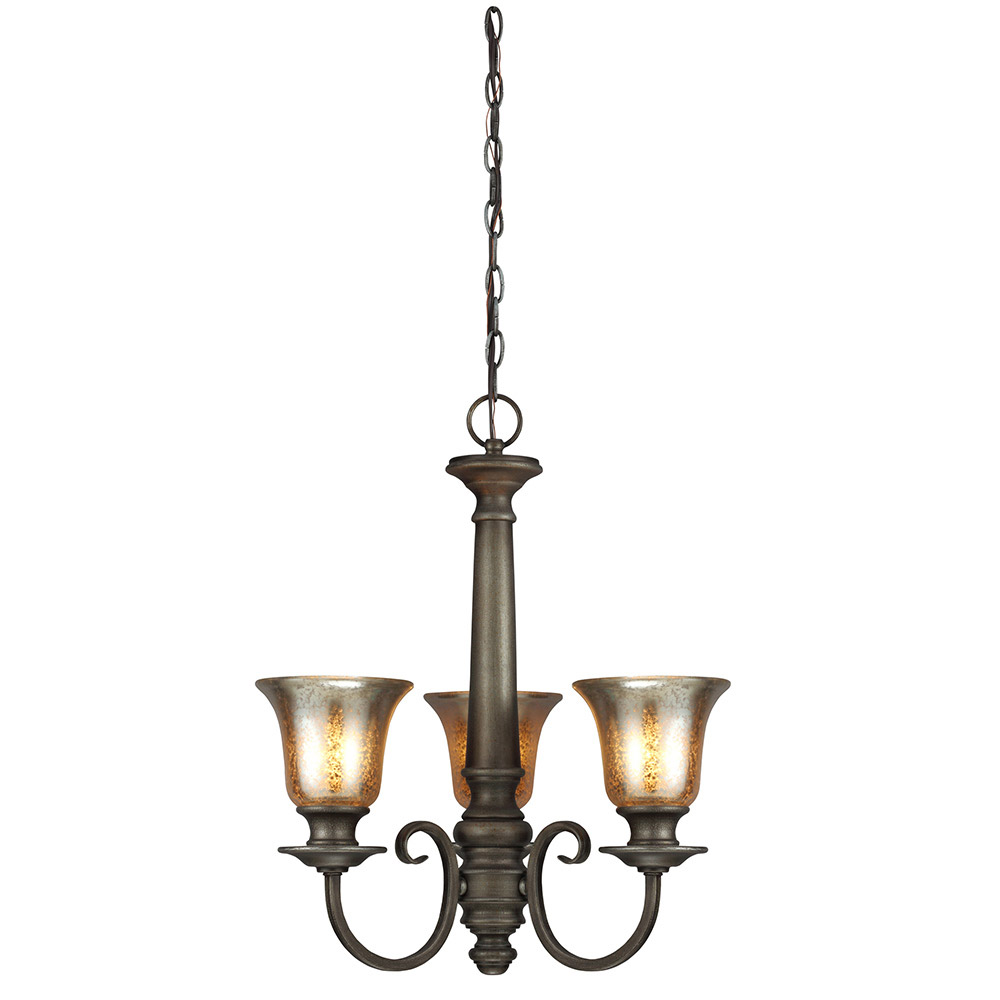 Sea Gull 3170403-736 Blayne 3 Light 20 inch Platinum Oak Chandelier Single-Tier Ceiling Light in Standard photo