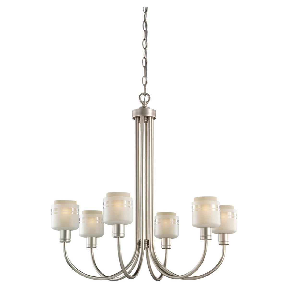 Sea Gull Lighting Groove 6 Light Chandelier in Golden Pewter 31732-853 photo