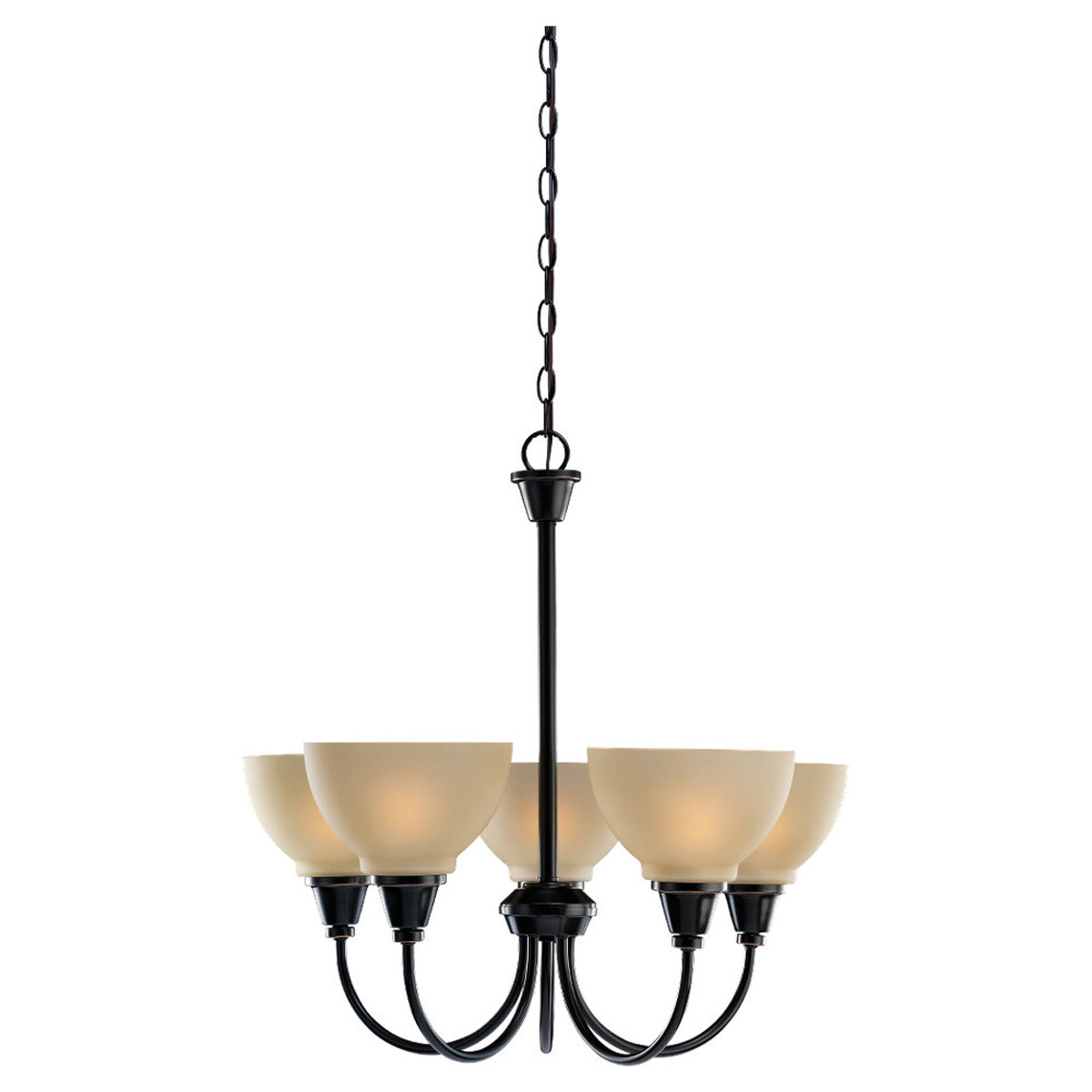 Sea Gull Lighting Sydney 5 Light Chandelier in Vintage Brown 31746-862