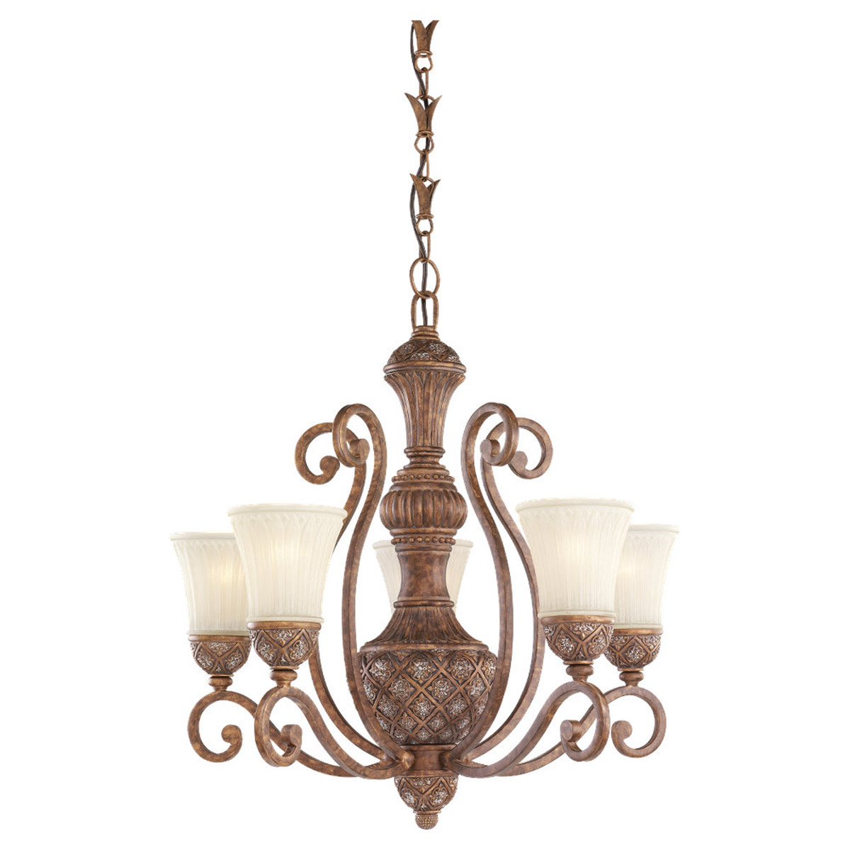 Sea Gull Lighting Highlands 5 Light Chandelier in Regal Bronze 31751-758