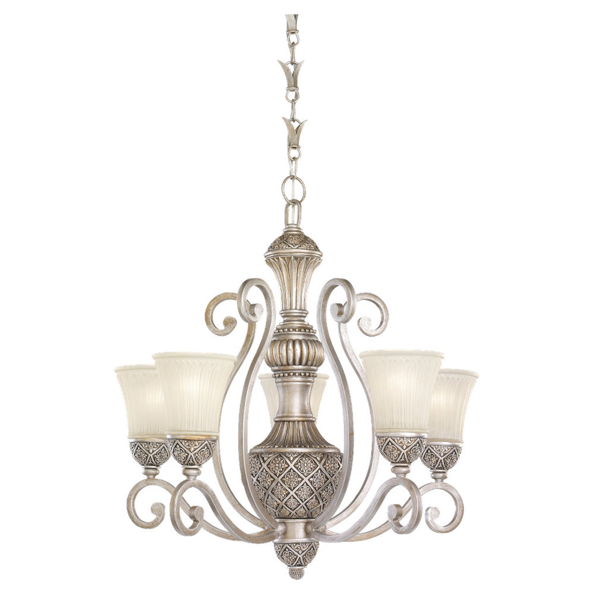 Sea Gull Lighting Highlands 5 Light Chandelier in Palladium 31751-824