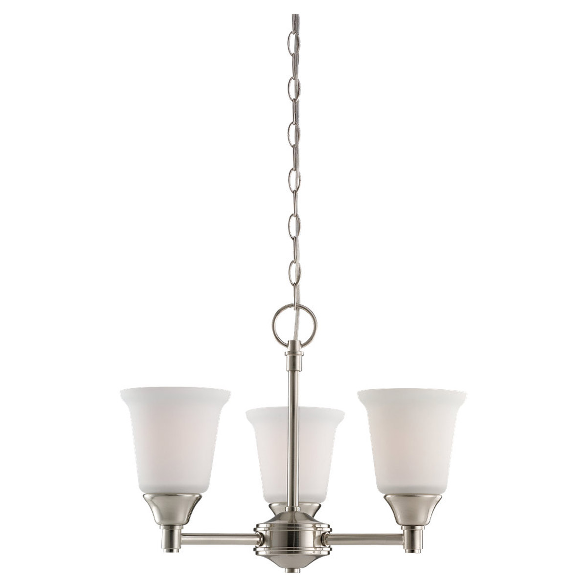 Sea Gull Lighting Belair 3 Light Fluorescent Chandelier in Brushed Nickel 31790BLE-962
