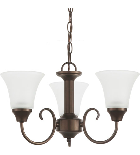 Sea Gull Lighting Holman 3 Light Chandelier in Bell Metal Bronze 31806-827 photo