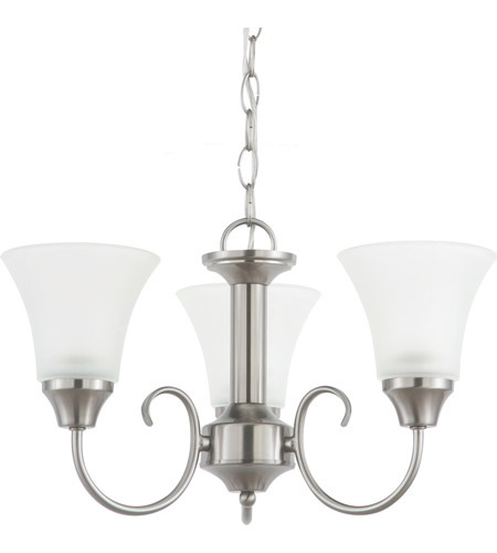 Sea Gull Lighting Holman 3 Light Chandelier in Brushed Nickel 31806-962