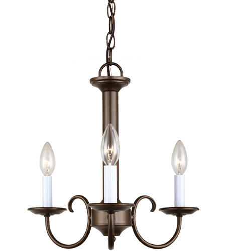 Sea Gull Lighting Holman 3 Light Chandelier in Bell Metal Bronze 31807-827 photo