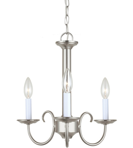 Sea Gull 31807-962 Holman 3 Light 16 inch Brushed Nickel Chandelier Ceiling Light photo