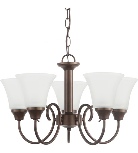 Sea Gull 31808-827 Holman 5 Light 20 inch Bell Metal Bronze Chandelier Ceiling Light photo