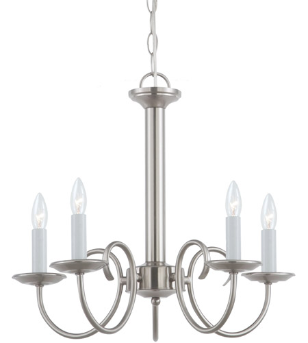 Sea Gull 31809-962 Holman 5 Light 18 inch Brushed Nickel Chandelier Ceiling Light photo