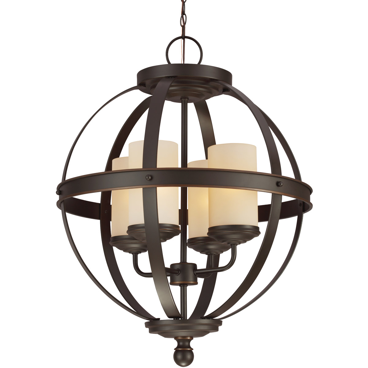 Sea Gull Sfera 4 Light Chandelier Single-Tier in Autumn Bronze 3190404BLE-715 photo
