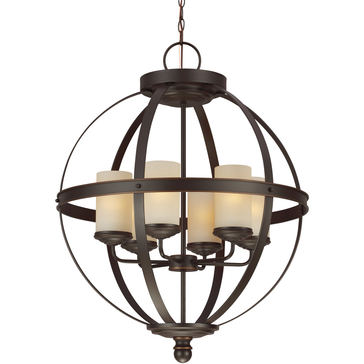 Sea Gull 3190406BLE-715 Sfera 6 Light 25 inch Autumn Bronze Chandelier Single-Tier Ceiling Light in Fluorescent photo