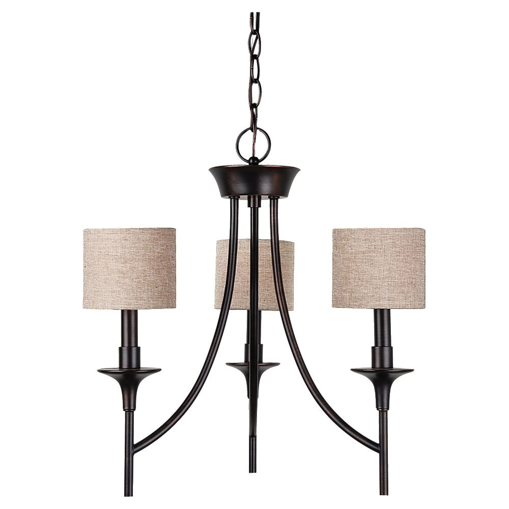 Sea Gull Lighting Stirling 3 Light Chandelier in Burnt Sienna 31932-710