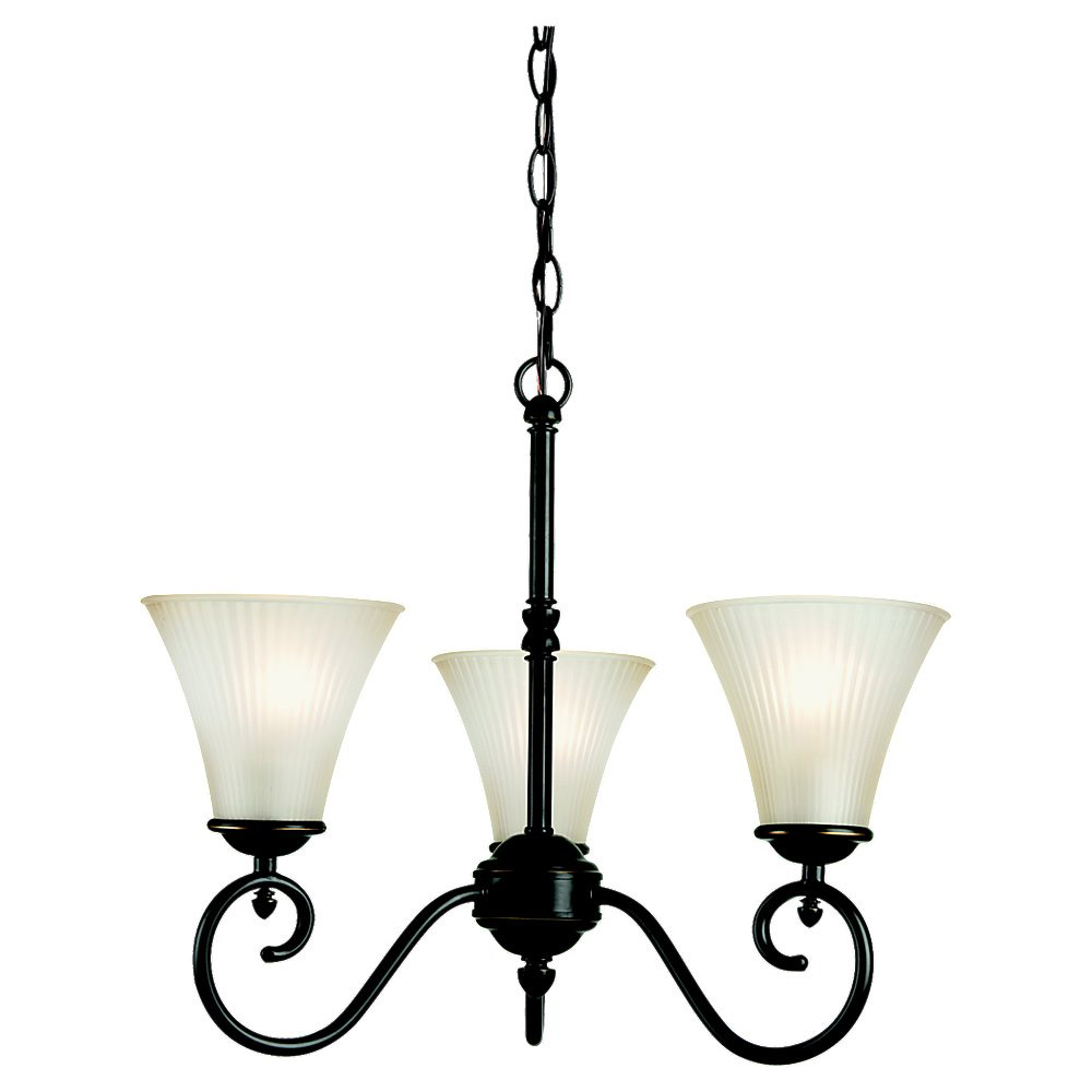 Sea Gull Lighting Joliet 3 Light Chandelier in Heirloom Bronze 31935-782