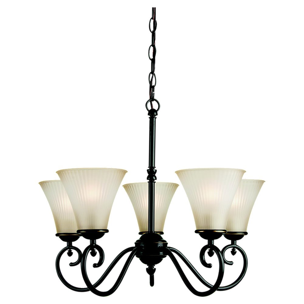 Sea Gull Lighting Joliet 5 Light Chandelier in Heirloom Bronze 31945-782 photo