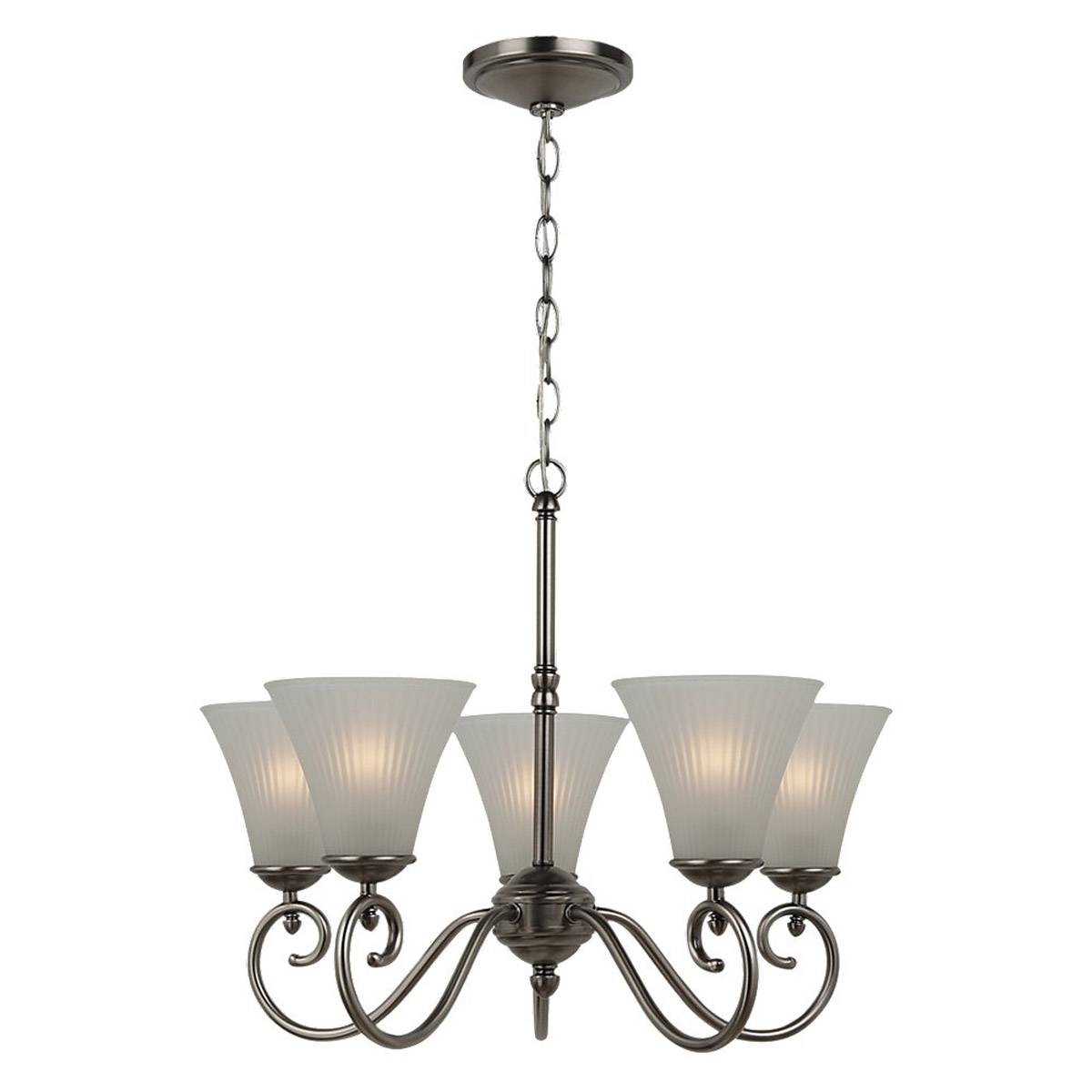 Sea Gull Lighting Joliet 5 Light Chandelier in Antique Brushed Nickel 31945-965