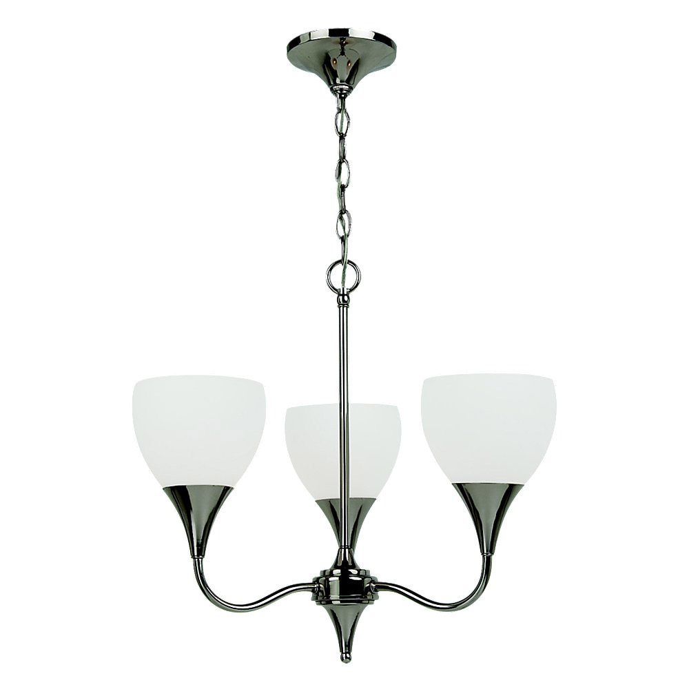 Sea Gull Lighting Solana 3 Light Chandelier in Polished Nickel 31951-841