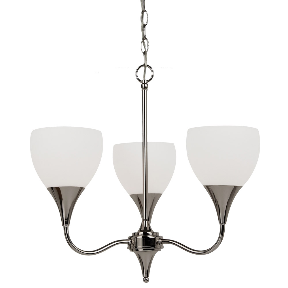 Sea Gull Lighting Solana 3 Light Chandelier in Polished Nickel 31951BLE-841