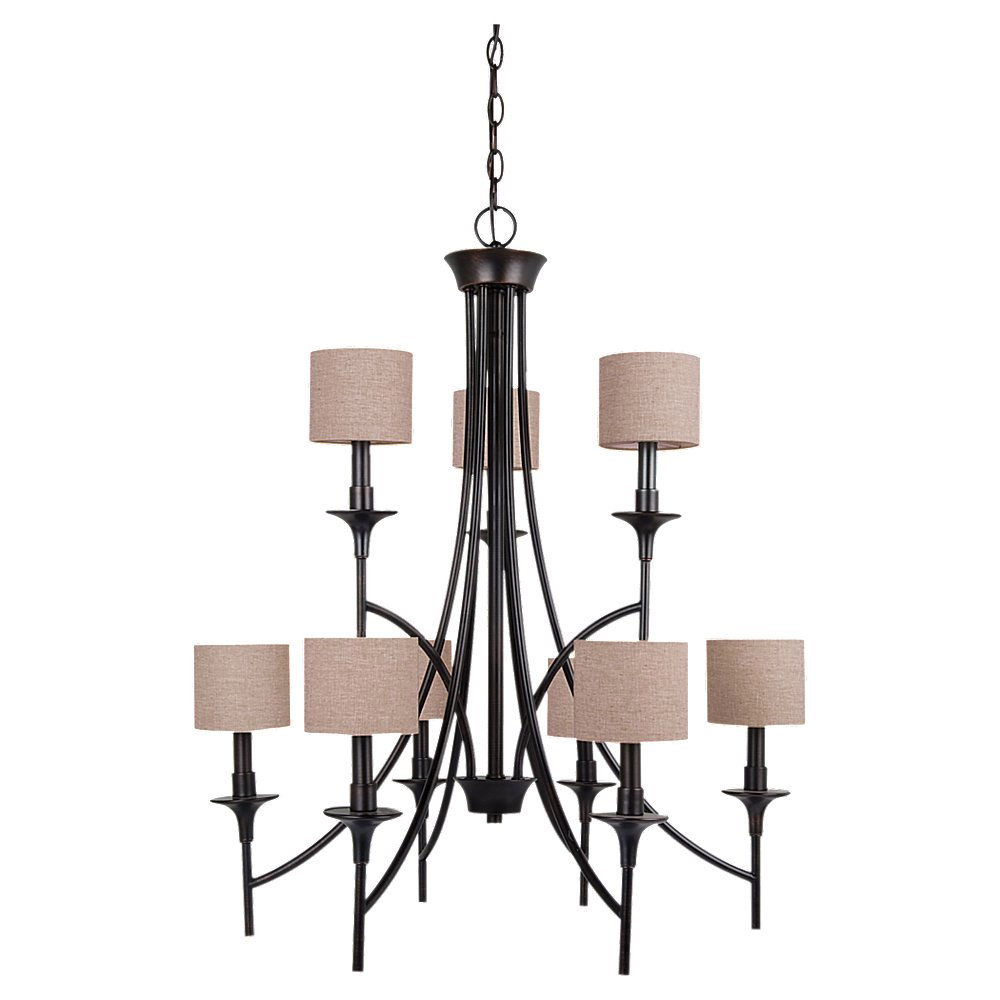 Sea Gull Lighting Stirling 9 Light Chandelier in Burnt Sienna 31952-710 photo