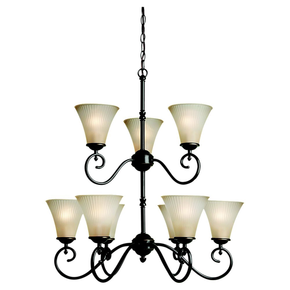 Sea Gull Lighting Joliet 9 Light Chandelier in Heirloom Bronze 31955-782