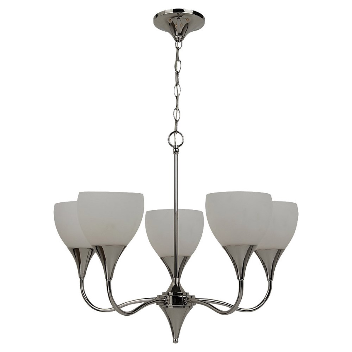 Sea Gull Lighting Solana 5 Light Chandelier in Polished Nickel 31961-841