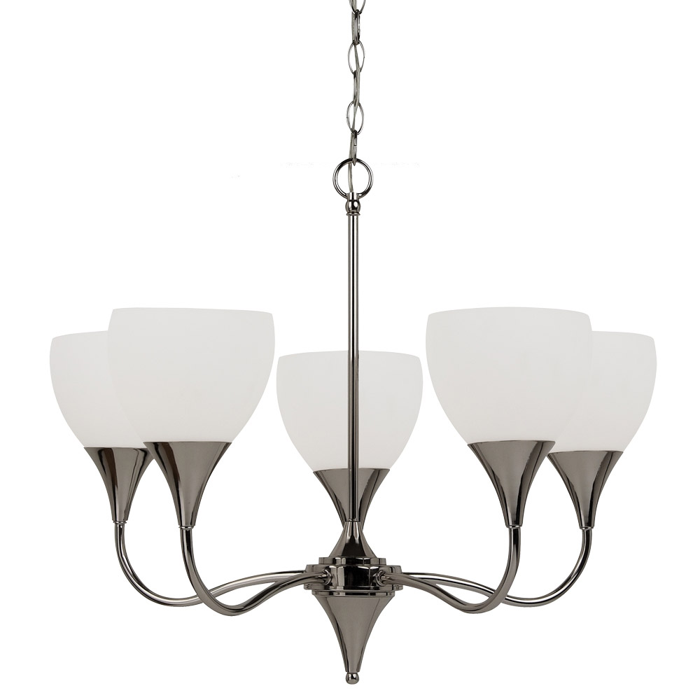 Sea Gull Lighting Solana 5 Light Chandelier in Polished Nickel 31961BLE-841