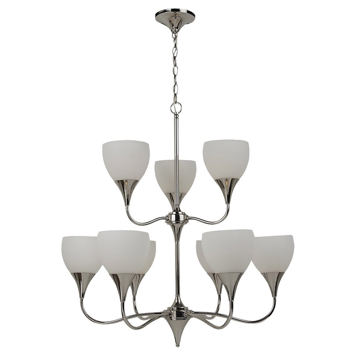 Sea Gull Lighting Solana 9 Light Chandelier in Polished Nickel 31971-841