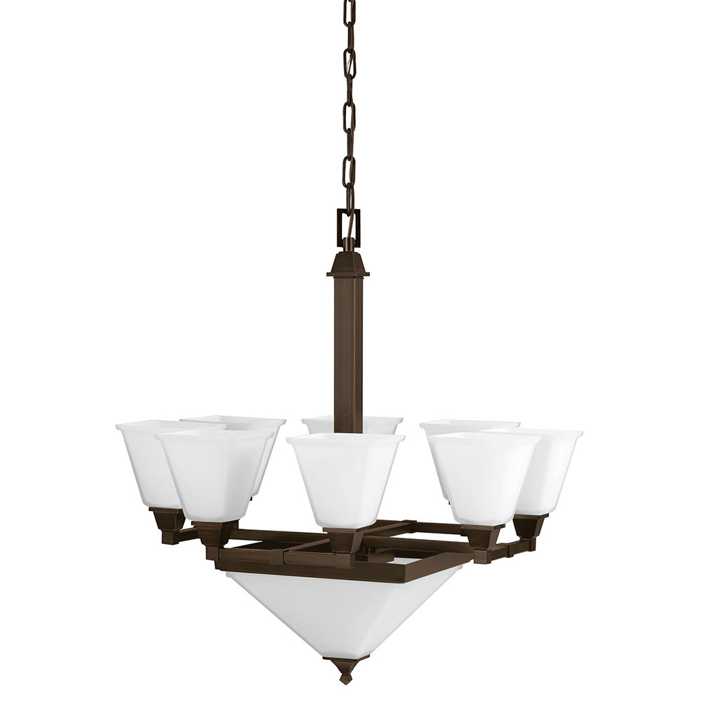 Sea Gull Denhelm 10 Light Chandelier Multi-Tier in Burnt Sienna 3250410BLE-710 photo
