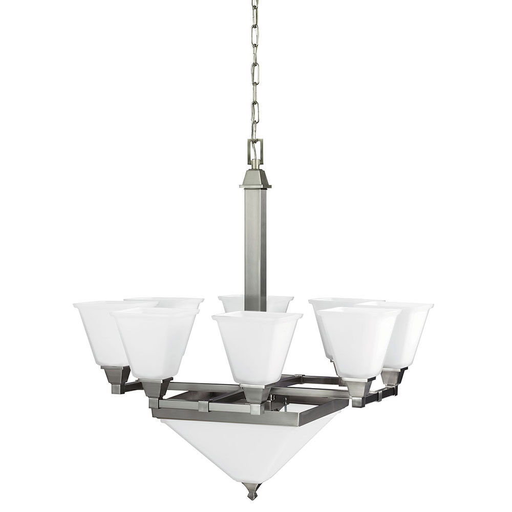 Sea Gull Denhelm 10 Light Chandelier Multi-Tier in Brushed Nickel 3250410-962