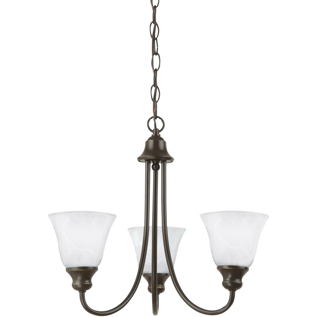Sea Gull 35939-782 Windgate 3 Light 20 inch Heirloom Bronze Chandelier Ceiling Light in Standard photo