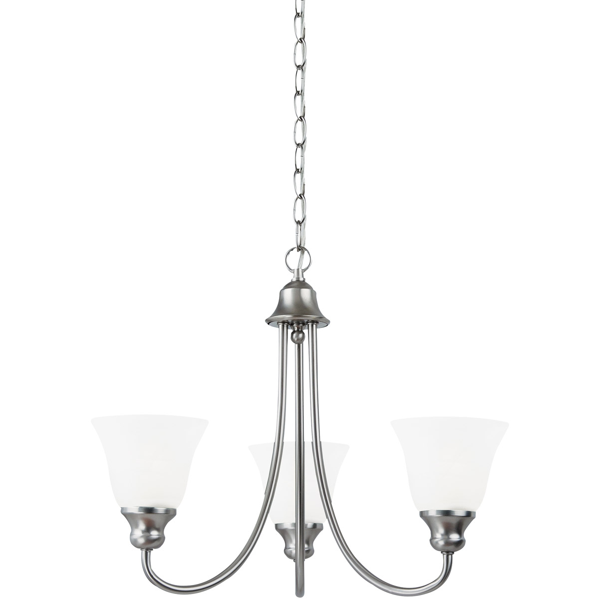 Sea Gull Lighting Windgate 3 Light Chandelier in Brushed Nickel 35939-962