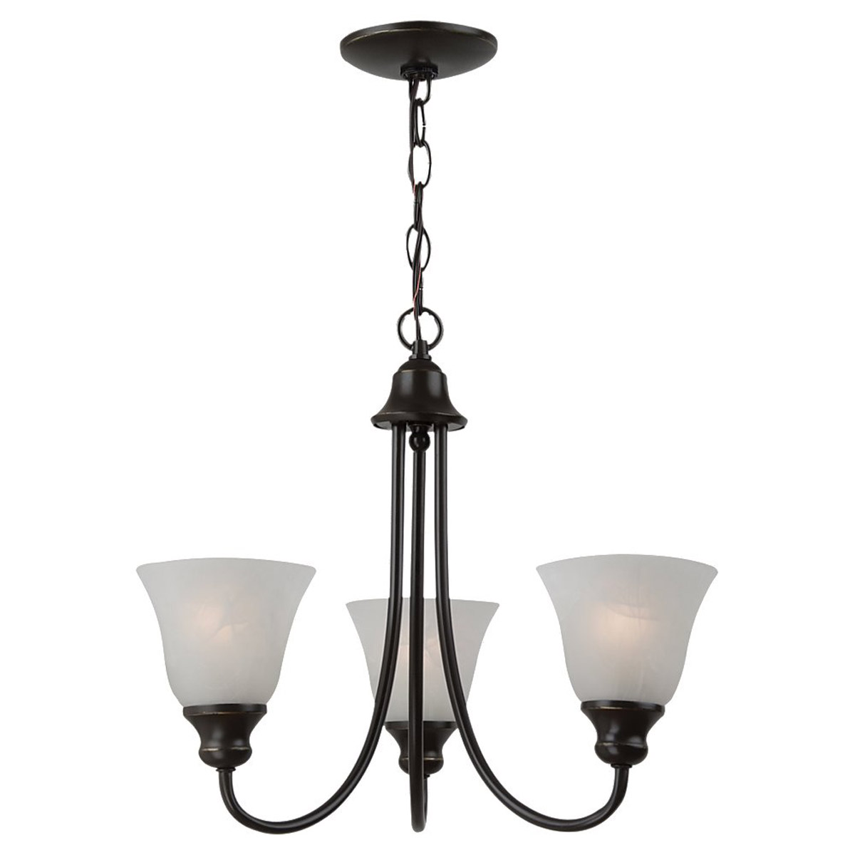 Sea Gull 35939BLE-782 Windgate 3 Light 20 inch Heirloom Bronze Chandelier Ceiling Light in Fluorescent photo
