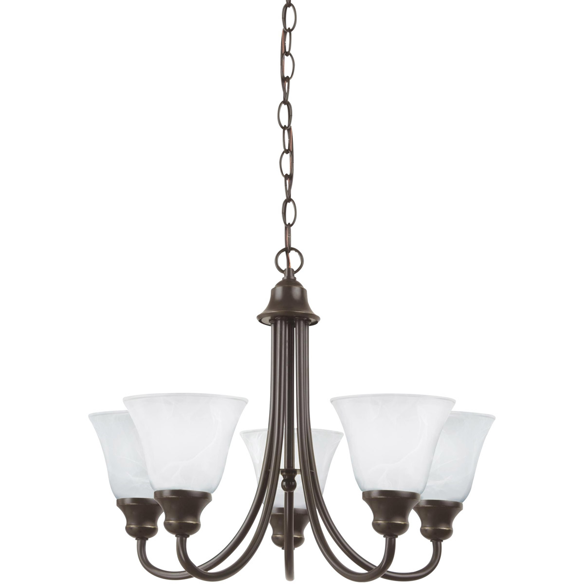 Sea Gull 35940-782 Windgate 5 Light 20 inch Heirloom Bronze Chandelier Ceiling Light in Standard photo
