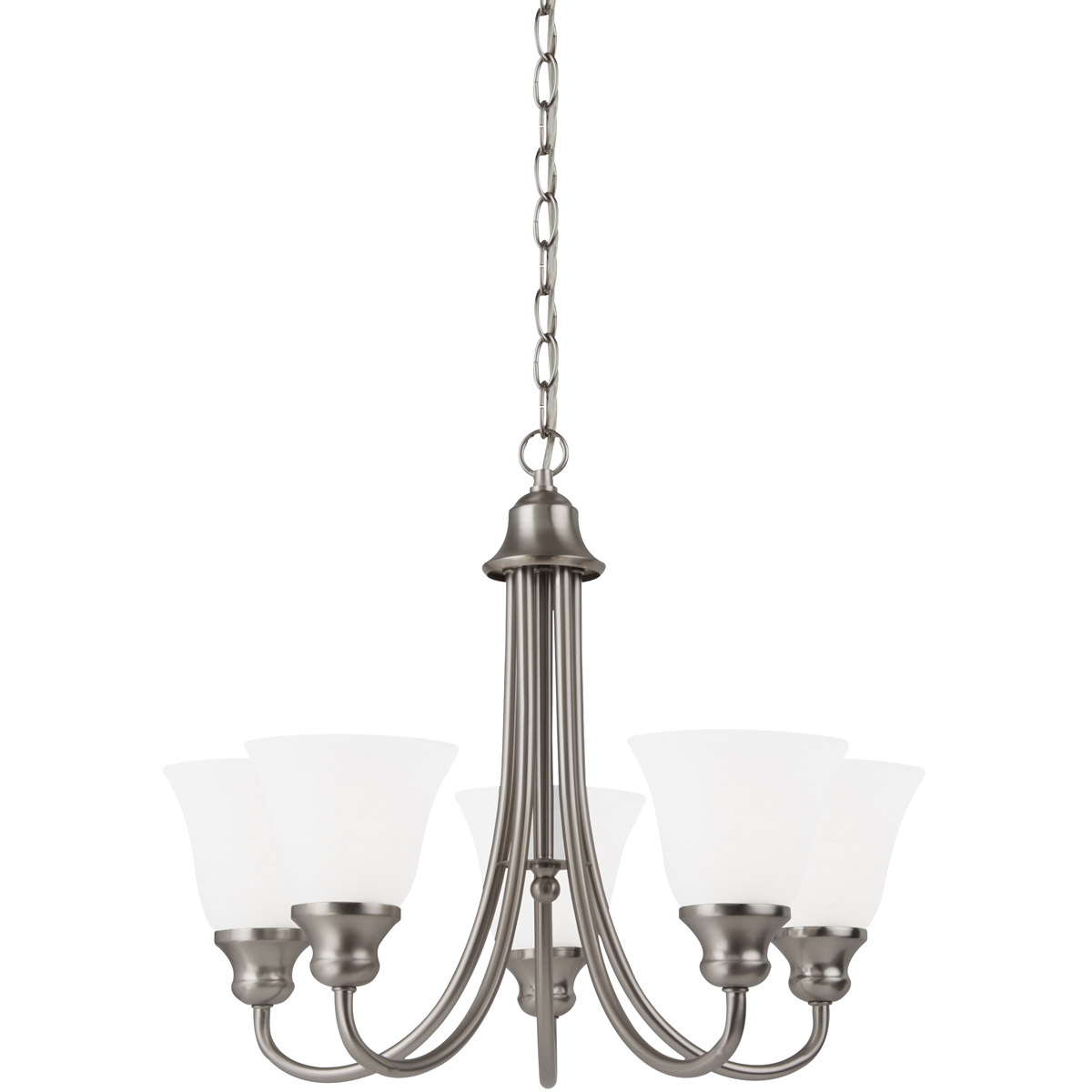 Sea Gull Lighting Windgate 5 Light Chandelier in Brushed Nickel 35940-962 photo