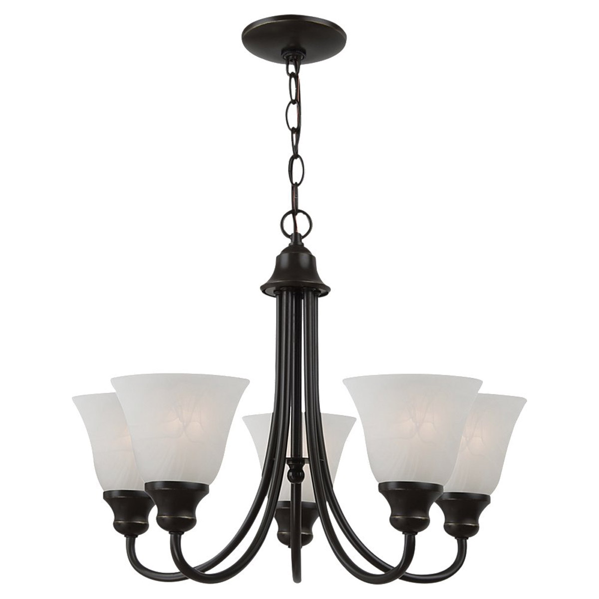 Sea Gull Lighting Windgate 5 Light Chandelier in Heirloom Bronze 35940BLE-782