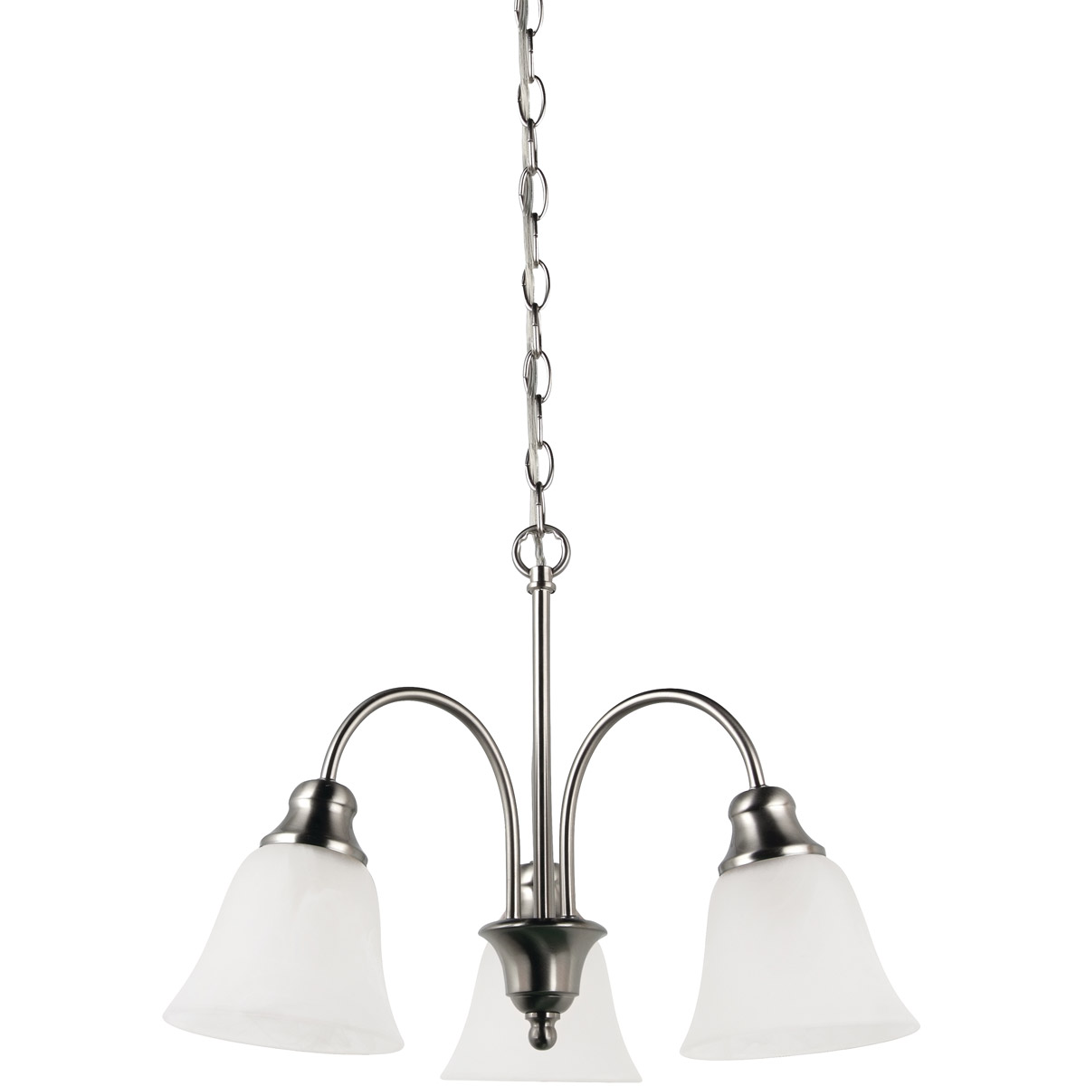 Sea Gull Lighting Windgate 3 Light Chandelier in Brushed Nickel 35949-962