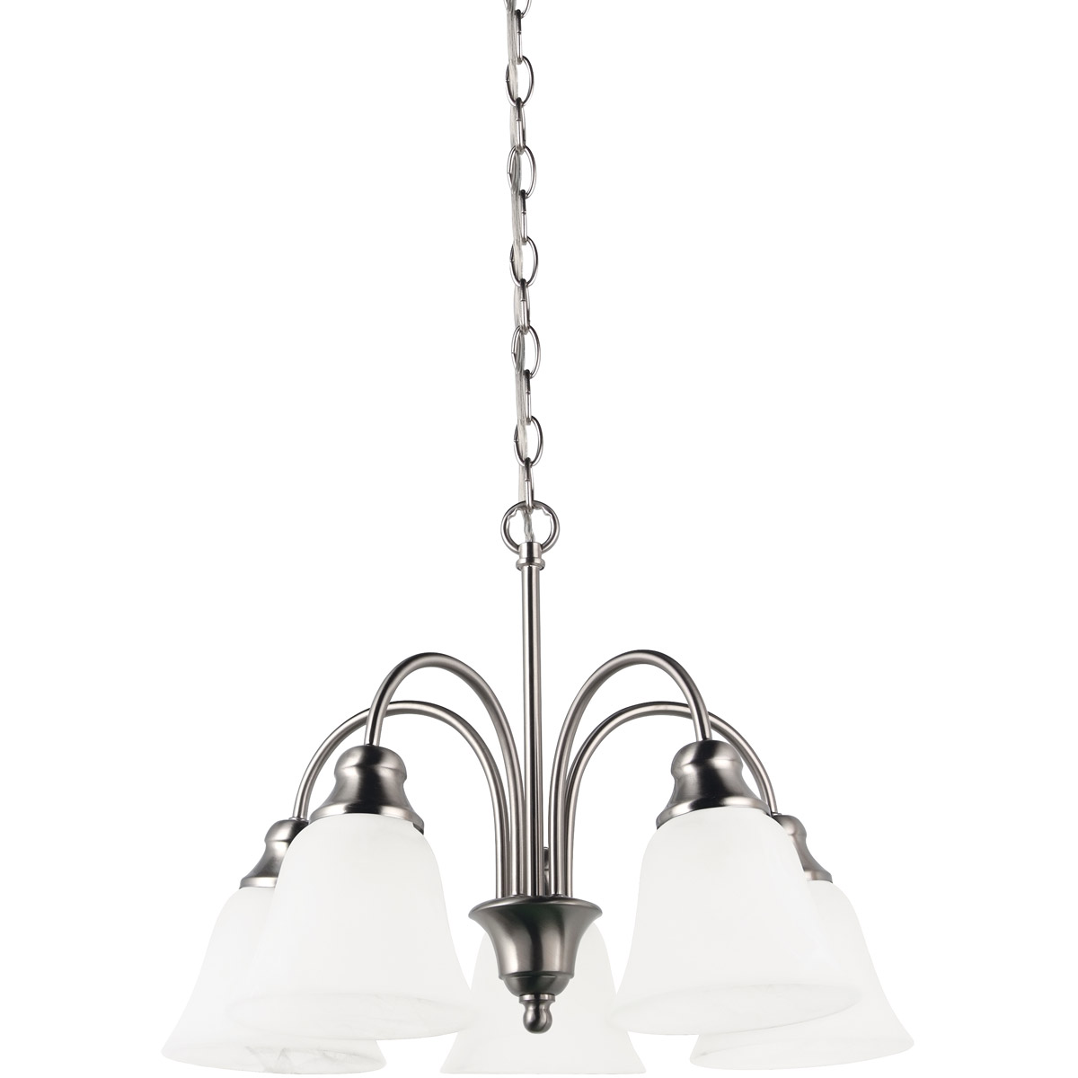 Sea Gull Lighting Windgate 5 Light Chandelier in Brushed Nickel 35950-962 photo