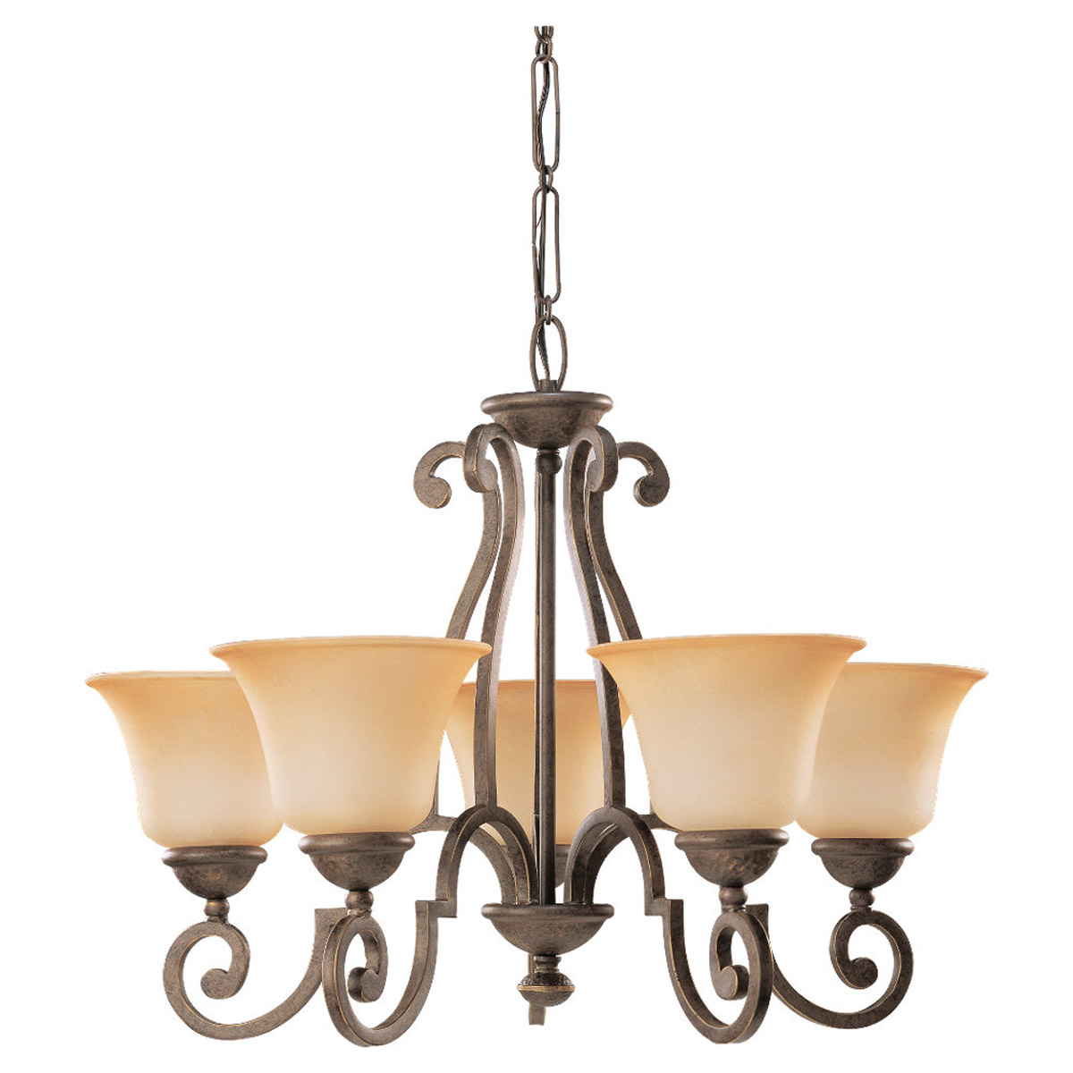 Sea Gull Lighting Brandywine 5 Light Chandelier in Antique Bronze 39032BLE-71