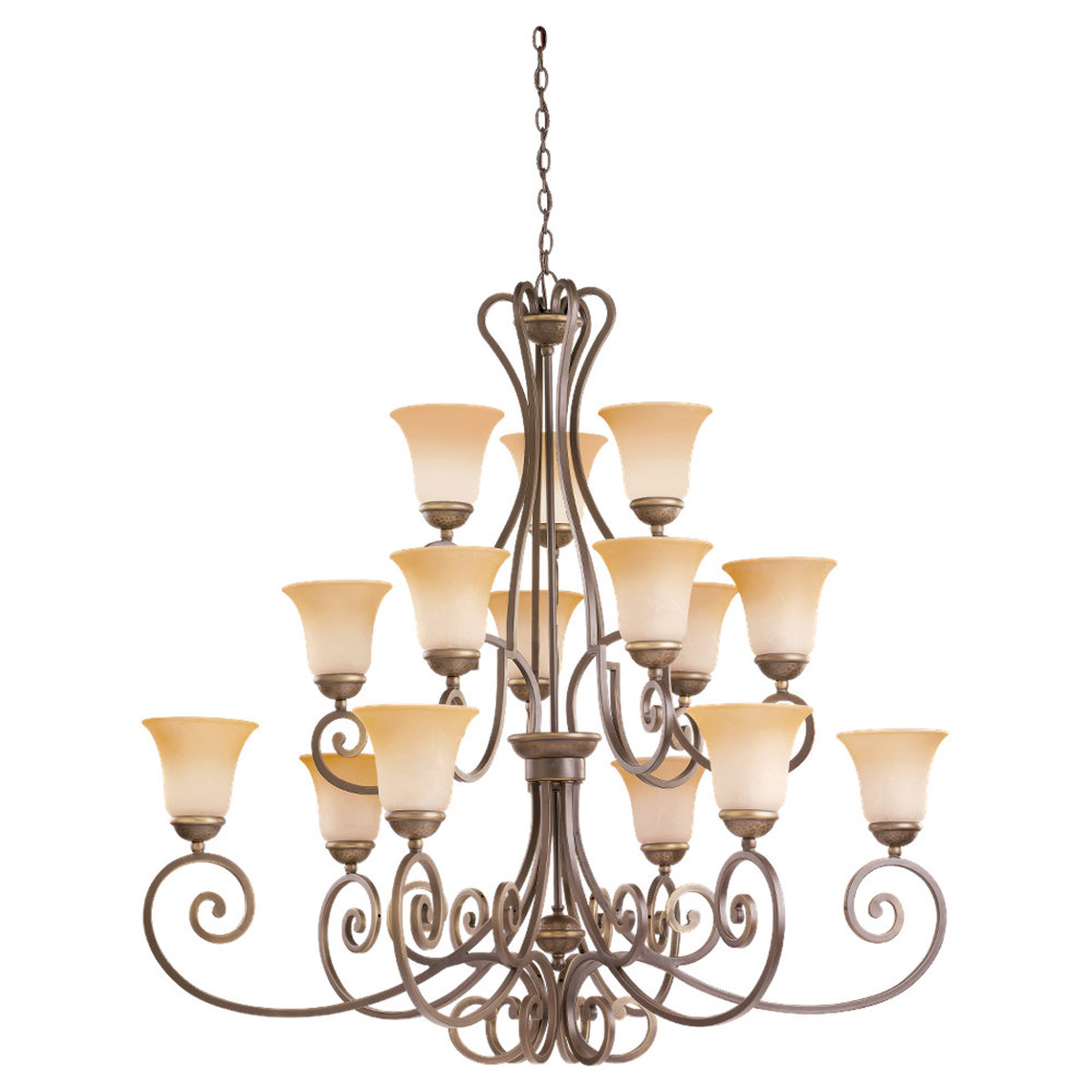 Sea Gull Lighting Brandywine 15 Light Chandelier in Antique Bronze 39034BLE-71 photo