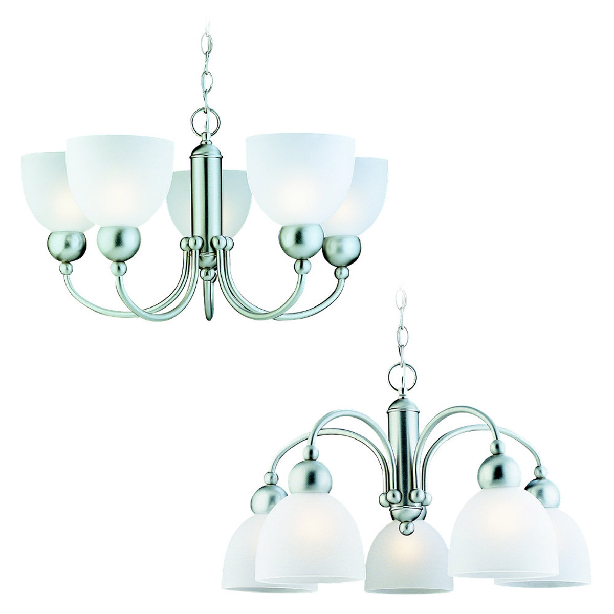 Sea Gull Lighting Metropolis 5 Light Chandelier in Brushed Nickel 39036BLE-962