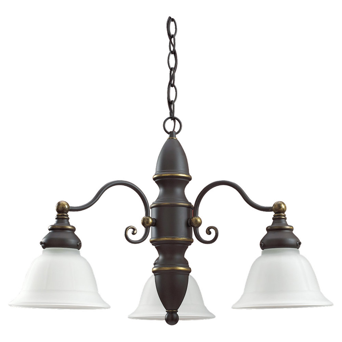 Sea Gull Lighting Canterbury 3 Light Chandelier in Antique Bronze 39050BLE-71